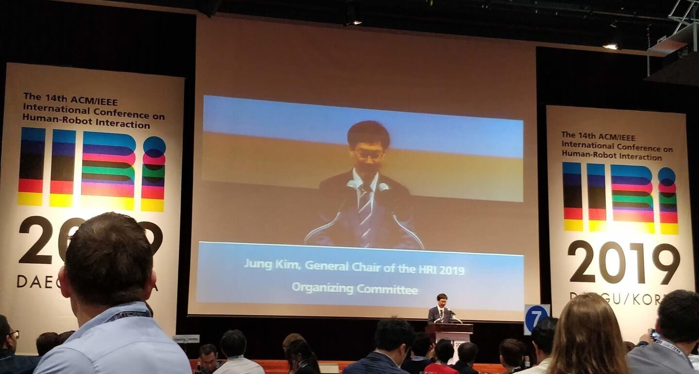 chairman speech at the HRI International conference on human-robot interaction 2019 in Daegu Korea