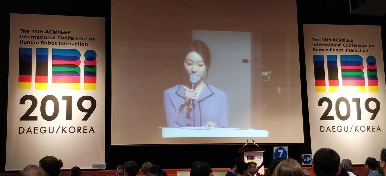 presentation at HRI international conference on human-robot interaction 2019 in Daegu Korea