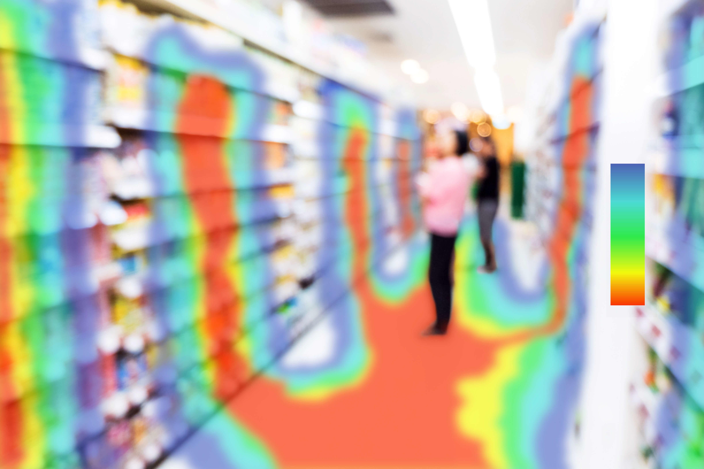 eye tracking heatmap in retail