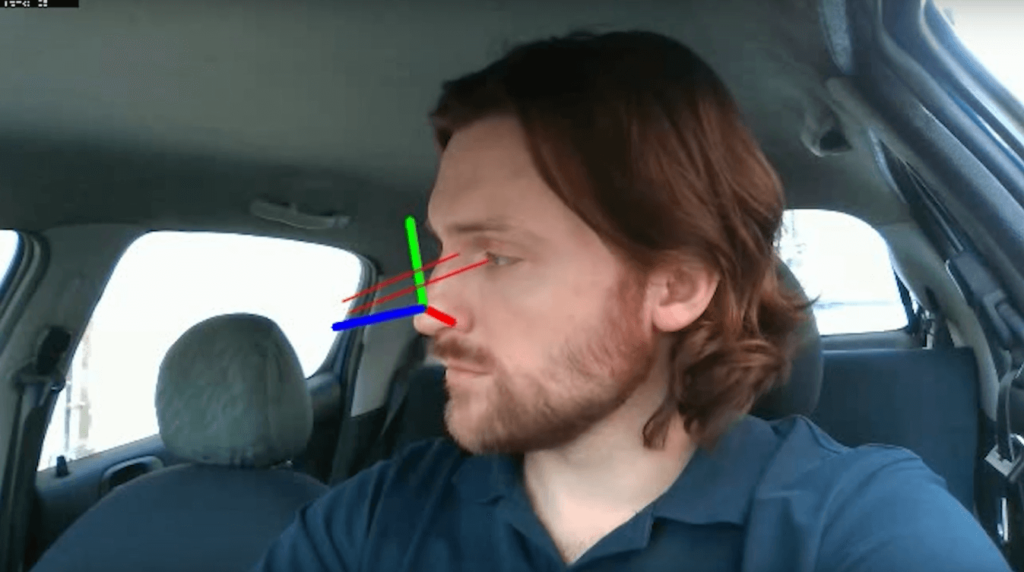 driver simulation gaze tracking